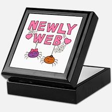 Funny Newly Web Spiders Newly Wed Keepsake Box