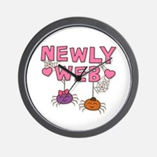 Funny Newly Web Spiders Newly Wed Wall Clock