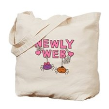 Funny Newly Web Spiders Newly Wed Tote Bag