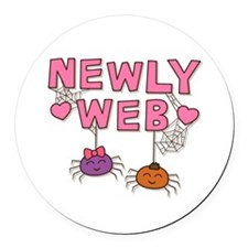 Funny Newly Web Spiders Newly Wed Round Car Magnet