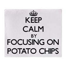 Keep Calm by focusing on Potato Chip Throw Blanket