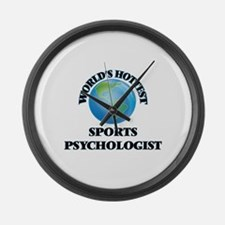 World's Hottest Sports Psychologi Large Wall Clock