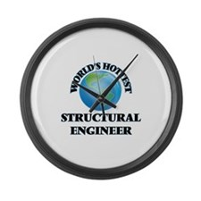 World's Hottest Structural Engine Large Wall Clock