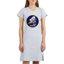 seabees_PATCH_NAVY.png Women's Nightshirt