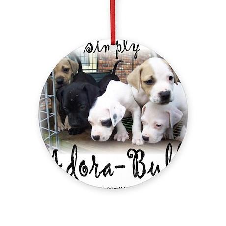 "Holiday ""Adora-Bull"" Round Ornament"