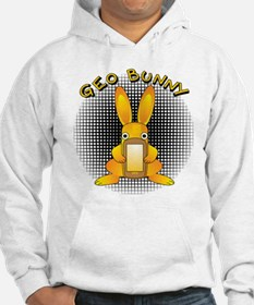 Geo Bunny Orange Text Sweatshirt