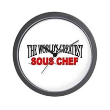 """""""The World's Greatest Sous Chef"""" Wall Clock"""