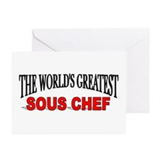 """The World's Greatest Sous Chef"" Greeting Cards (P"