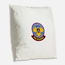 US NAVAL INTELLIGENCE Military Burlap Throw Pillow