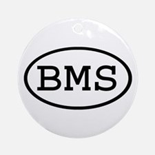 BMS Oval Ornament (Round)