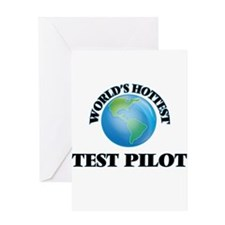 World's Hottest Test Pilot Greeting Cards