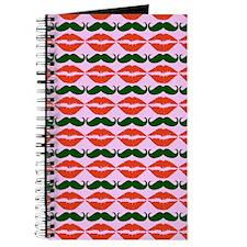 Mustache & Lips Pattern Journal