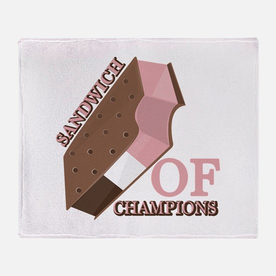 Sandwich Of Champions Throw Blanket