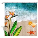 Sex On The Beach Tropical Beach Shower Curtain