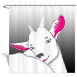Cute Goat Animal Shower Curtain