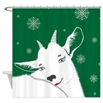 Cute Animal Christmas Goat Shower Curtain