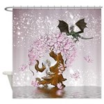 Fantasy Faerie Butterflies & Dragon Shower Cur