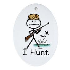Duck Hunter Oval Ornament