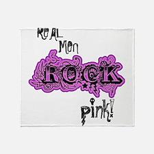 Lil pink crush real men rock pink.jp Throw Blanket