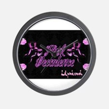 2-Lil pink crush decadence2.jpg Wall Clock