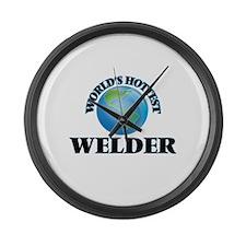 World's Hottest Welder Large Wall Clock