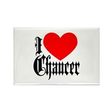 I Love Chaucer Rectangle Magnet