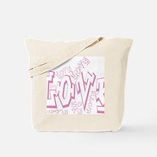 Lil pink crush love graffiti white wash.j Tote Bag
