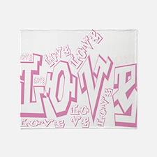 Lil pink crush love graffiti white w Throw Blanket