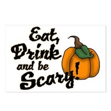 eat drink and be scary Postcards (Package of 8)
