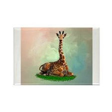 Cute Giraffe Rectangle Magnet (10 pack)