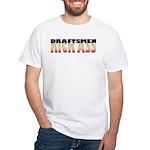 Draftsmen Kick Ass White T-Shirt