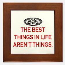 BEST THINGS IN LIFE Framed Tile