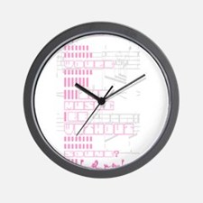 Lil pink crush sound.jpg Wall Clock
