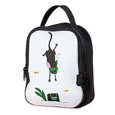 Snorkeling Mouse Neoprene Lunch Bag