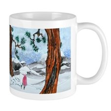 Man in the snow Mugs