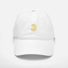 GOLD #3 Baseball Baseball Cap