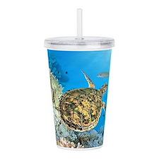 Sea Turtle Acrylic Double-wall Tumbler
