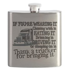 Thank A Trucker For Bringing It Flask