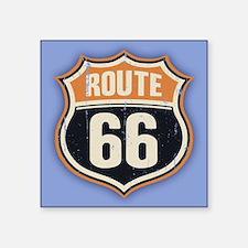 """Route 66 -1214 Square Sticker 3"""" x 3"""""""