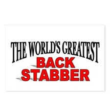 """""""The World's Greatest Back Stabber"""" Postcards (Pac"""