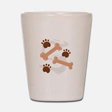 Dog Bones Shot Glass