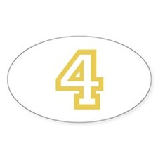 GOLD #4 Decal