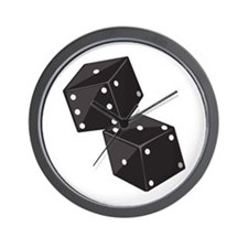 Two Dice Wall Clock