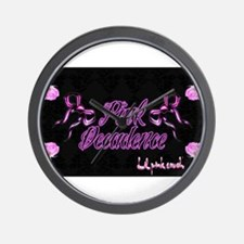 Lil pink crush decadence2.jpg Wall Clock