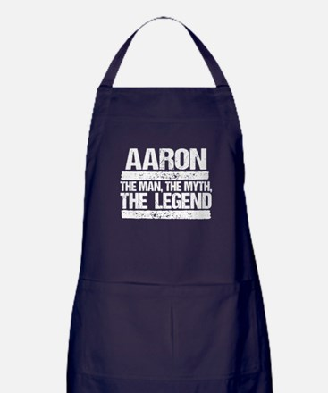 Aaron, The Man, The Myth, The Legend Apron (dark)