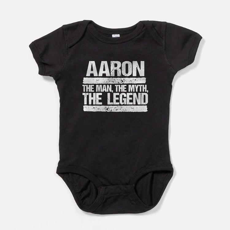 Aaron, The Man, The Myth, The Legend Baby Bodysuit