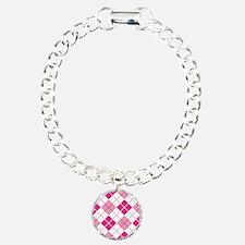 Pink Argyle Bracelet