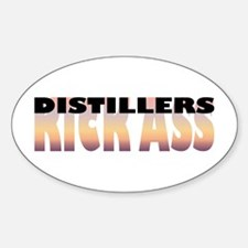 Distillers Kick Ass Oval Decal
