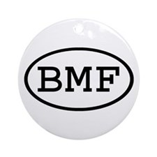 BMF Oval Ornament (Round)