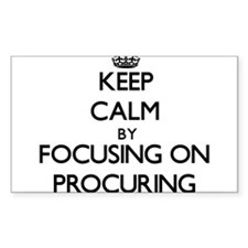 Keep Calm by focusing on Procuring Decal